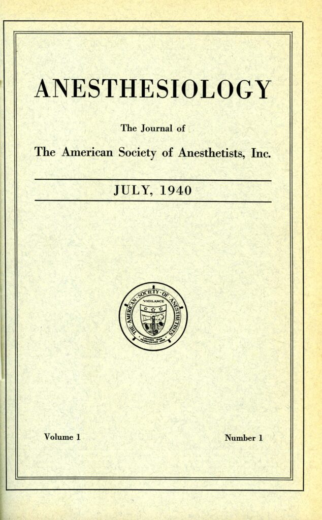 Image of Anesthesiology No. 1 - 1 of 1
