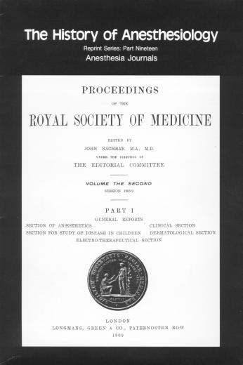 The History of Anesthesiology Reprint Series: Part 19 – Anesthesia Journals.