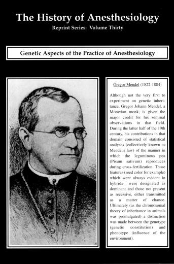 Image of The History of Anesthesiology Reprint Series: Volume 30 – Genetic Aspects of the Practice of Anesthesiology. - 1 of 1