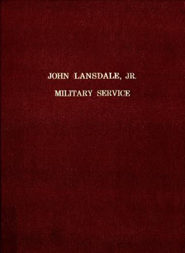 Image of Lansdale, John Jr. Military Service. - 1 of 1