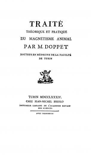 Image of Doppet A. Traité théorique et pratique du magnétisme animal, 1784. - 1 of 1