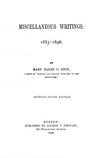 Image of Eddy MBG. Miscellaneous writings 1883-1896. - 1 of 1