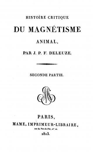 Image of Deleuze JPF. Histoire critique du magnétisme animal, 1813. - 1 of 1