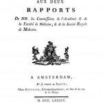 Image of Eslon CN. Supplément aux deux rapports de MM. les Commissaires de l'Académie et de la Faculté de Médecine, et de la Société Royale de Médecine, 1784. - 1 of 1