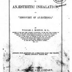 Image of Morton WJ. The invention of anæsthetic inhalation, or, Discovery of anæsthesia, 1880. - 1 of 1
