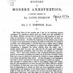 Image of Simpson JY. History of modern anæsthetics : a second letter to Dr. Jacob Bigelow, 1870. - 1 of 1