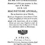 Image of Anonymous. Rapport du rapport de MM. les commissaires nommés par le roi pour examiner la pratique de M. Deslon sur le magnétisme animal, par un amateur de la vérité … addressé à M. Caritides, 1784. - 1 of 1