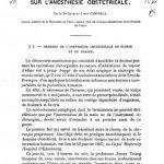 Image of Campbell CJ. Mémoire sur l'anesthésie obstétrical. - 1 of 1
