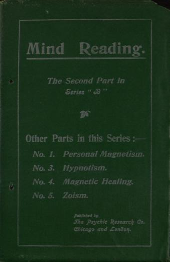 Image of A course of practical psychic instruction: Part 2 of Series - 1 of 1