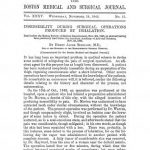 Image of Bigelow HJ. Insensibility during surgical operations produced by inhalation, 1846. - 1 of 1