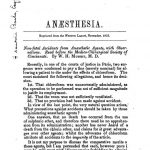 Image of Mussey WH. Anaesthesia : non-fatal accidents from anaesthetic agents, with observations ; Tracheotomy for foreign body, 1853. - 1 of 1