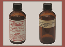 US Navy Chloroform Bottle